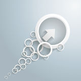 White Arrow With Circles. On the grey background. Eps 10  file Royalty Free Stock Images