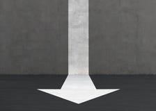 White arrow. On the floor. 3d render Stock Photo