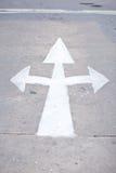 White Arrow On The Road Stock Photo