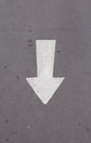 White arrow painted Royalty Free Stock Images