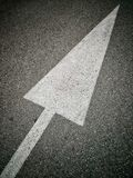 White arrow pointing up Royalty Free Stock Images