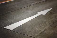 White arrow on the road Royalty Free Stock Photos