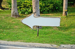 White arrow sign Royalty Free Stock Images