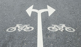 White arrow turn left and turn right Royalty Free Stock Image