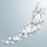 White Arrows Chart. White arrows on the grey background. Eps 10  file Royalty Free Stock Images