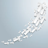 White Arrows Growth Chart Royalty Free Stock Images