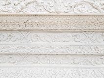 White art architecture temple wall background texture Royalty Free Stock Photos