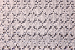 white art pattern woven fabric texture for background Royalty Free Stock Image