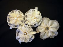 White artificial flowers Royalty Free Stock Photos