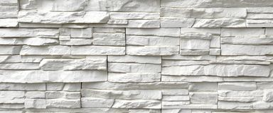White Artificial Stone Wall Royalty Free Stock Photography