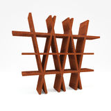 White Ash Wood Shelf Stock Image