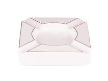 White ashtray Royalty Free Stock Photo
