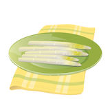 White asparagus Royalty Free Stock Photo