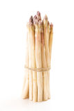 White asparagus bundle, on white Royalty Free Stock Photography