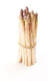 White asparagus bundle, on white. Background Royalty Free Stock Image