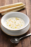 White asparagus cream soup, spargelcremesuppe Stock Photography