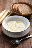 White asparagus cream soup, spargelcremesuppe Stock Photos