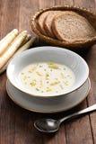 White asparagus cream soup, spargelcremesuppe Stock Photos