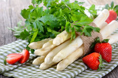 White asparagus Royalty Free Stock Images