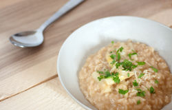 White Asparagus Risotto Royalty Free Stock Image