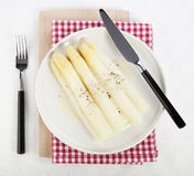 White Asparagus Side Dish Royalty Free Stock Photo