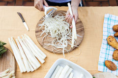 White asparagus, topview Royalty Free Stock Photo