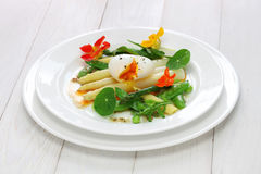 White asparagus warm salad Stock Photography