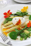 White asparagus warm salad Royalty Free Stock Images