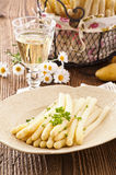 White Asparagus with White Wine Stock Image