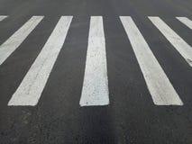 Free White Asphalt Crosswalk Lines Royalty Free Stock Images - 157979689