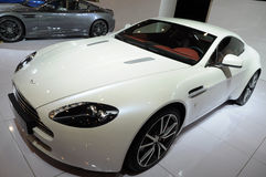 White  Aston Martin Stock Photography