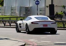 White Aston Martin One-77 Royalty Free Stock Image