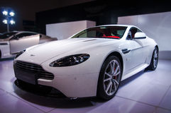 White Aston-Martin Stock Image