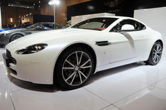 White  Aston Martin vantage Royalty Free Stock Photos