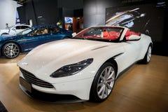White ASTONMARTIN car royalty free stock images