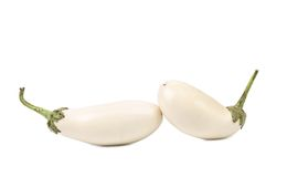 White aubergines Stock Photos