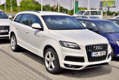 White Audi Q7 Stock Photo