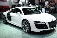 White audi r8 Stock Photography