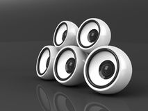 White audio system over grey Stock Images