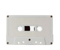 White audio tape Stock Photography
