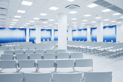 White auditorium stock image