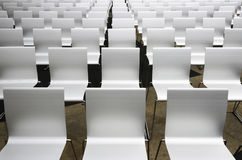 White auditorium seats Royalty Free Stock Photos