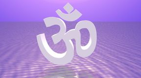 White aum / om Royalty Free Stock Photo