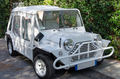 White austin mini moke Royalty Free Stock Image