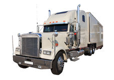 The white auto truck Stock Images