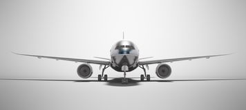 White aviation isolated 3d render plane on gray background with shadow stock illustration