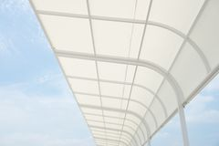 White awning Royalty Free Stock Photo