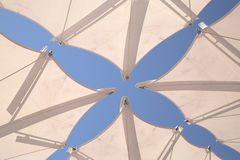 White awnings against  blue sky Royalty Free Stock Images