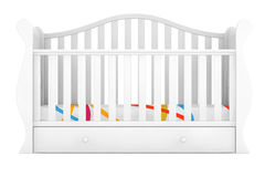 White Baby Bed. 3d rendering Stock Images