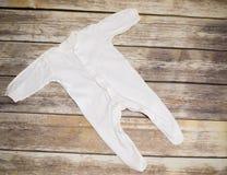 White baby bodysuit Royalty Free Stock Image